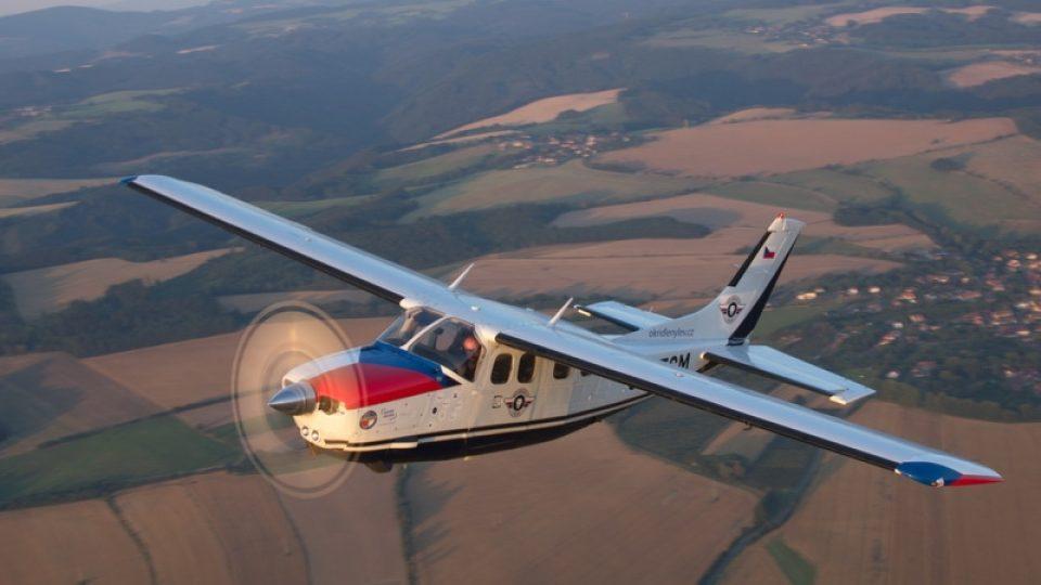 Pohled na letoun Cessna z ptačí perspektivy