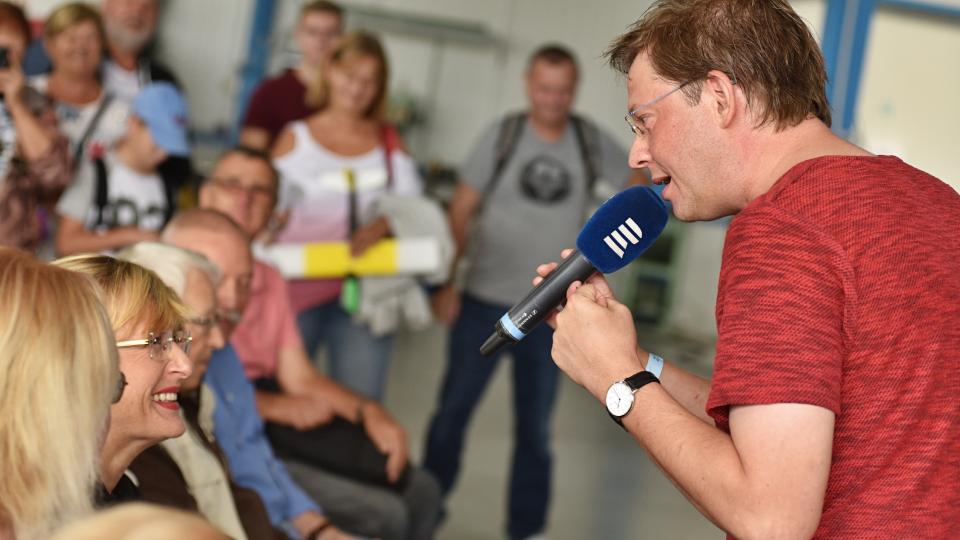 Tobogan živě z Letiště Letňany: Aleš Cibulka s diváky