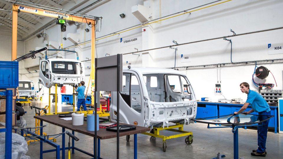 Výrobní linka AVIA v Přelouči