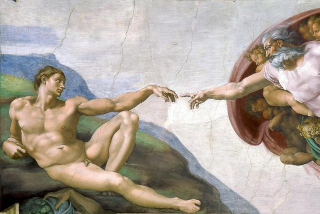 Stvoření Adama, Michelangelo
