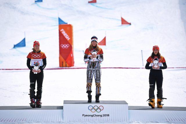 Ester Ledecká, vítězka lyžařského super-G