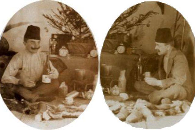 Dvojportrét Machulky a Štorcha slavících Vánoce v Tripolisu
