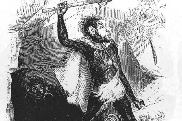 V představě pračlověka se objevuje vzhled lidoopa