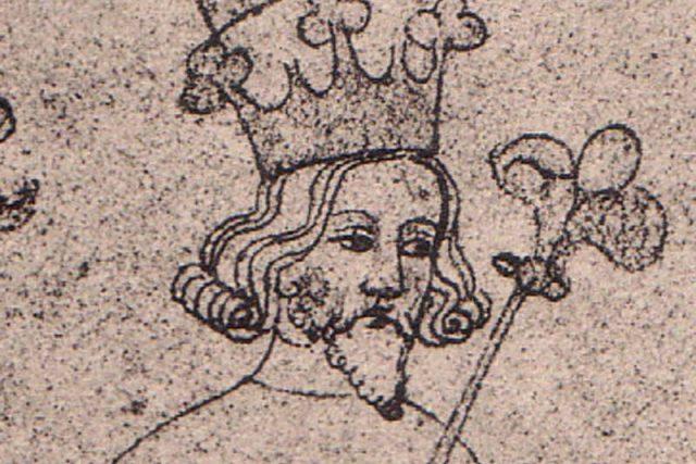 Vyobrazení Václava II. ve Zbraslavské kronice