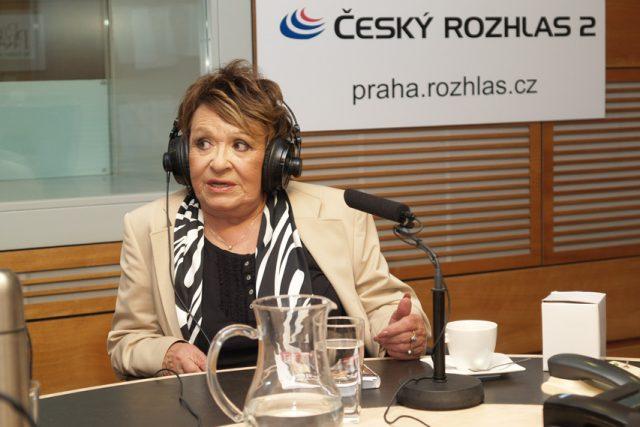 Jiřina Bohdalová ve studiu Čro 2 - Praha