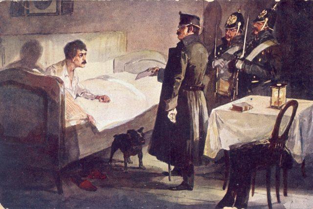 Zatčení Karla Havlíčka Borovského. Dobové vyobrazení.   foto: Archiv Muzea Vysočiny,  Havl. Brod