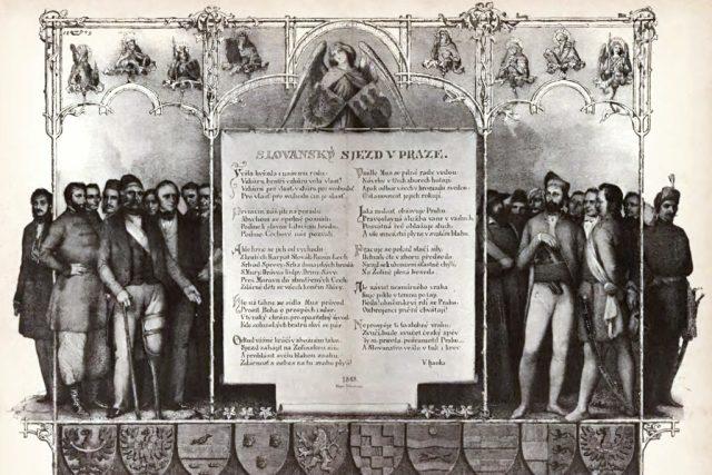 Slovanský sjezd v Praze  (2. až 12. června 1848) | foto: Archiv Muzea Vysočiny,  Havl. Brod