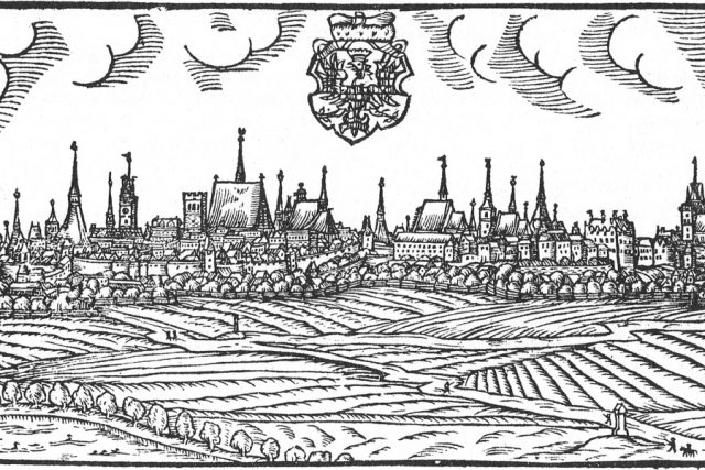 Olomouc. Veduta z roku 1593 od Jana Willenberga. | foto: Wikipedia,  public domain - volné dílo