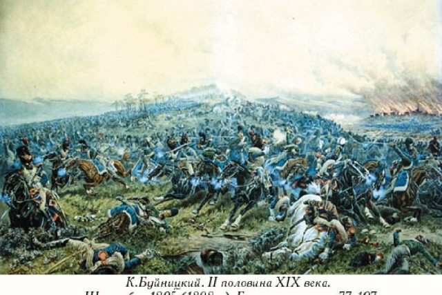 Bitva u Schöngrabernu na obraze K. Bujnitského  (1898) | foto: Wikimedia,  public domain