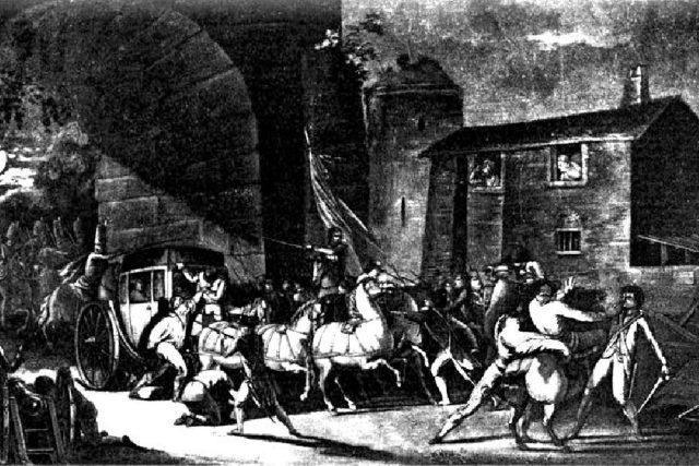 Zatčení královské rodiny ve Varennese  (obraz Gustava Borda) | foto: Wikimedia,  public domain