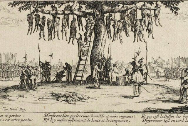 Hrůzy války. Rytina Jacquese Callota z roku 1632. | foto: Wikipedia,  public domain - volné dílo,  Art Gallery of New South Wales