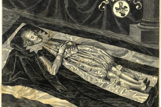 Aegidius Sadeler: Albrecht Jan Smiřický na smrtelné posteli | foto: Wikipedia,  public domain - volné dílo