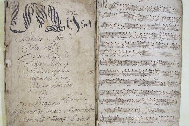 Brixiho Missa solemnis   foto: Státní okresní archiv Pelhřimov
