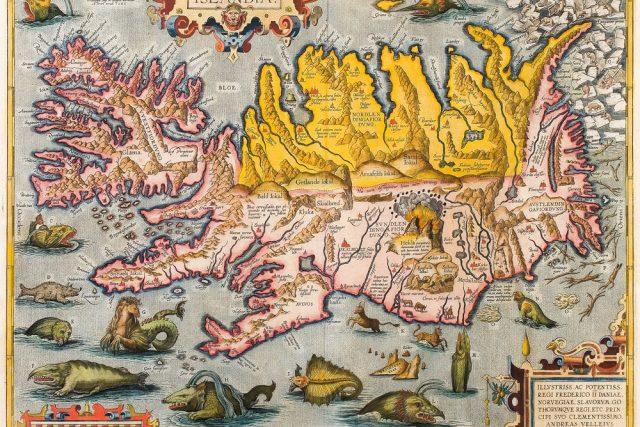 Abraham Ortelius: Islandia (Island v roce 1590).
