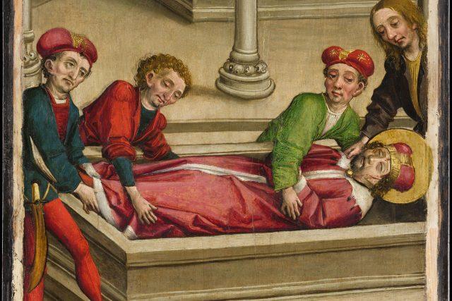 Pochování sv. Václava | foto: Wikimedia Commons