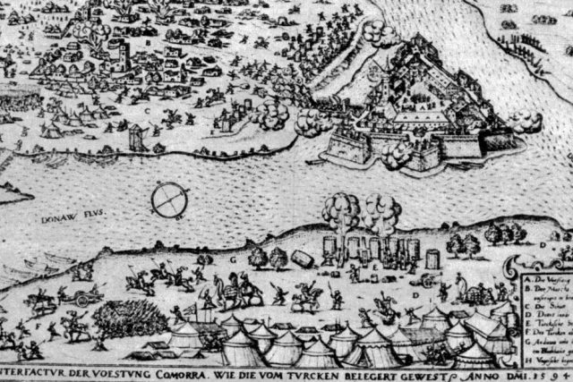 Obléhání Komárna v roce 1594 | foto: Wikipedia,  public domain - volné dílo