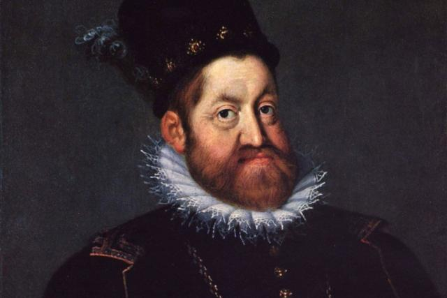 Joseph Heintz starší: Portrét Rudolfa II. (1592)