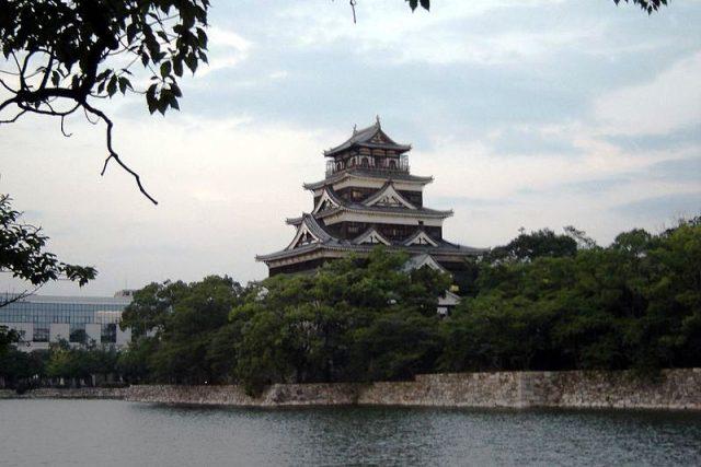 Pohled na Hrad Hirošima