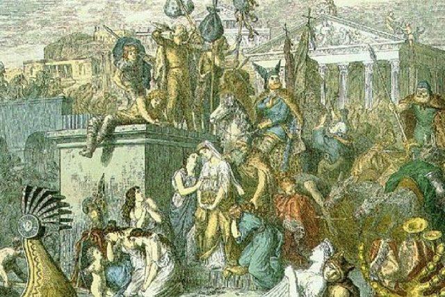Vandalové drancují roku 455 Řím, obraz od Heinricha Leutemanna (uživatel Dha)