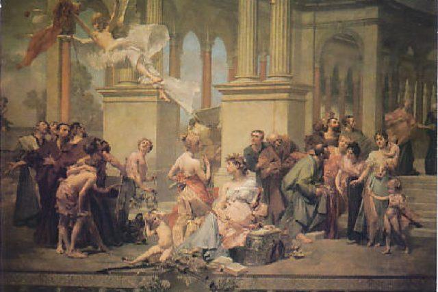 Národ sobě - opona Národního divadla od Vojtěcha Hynaise | foto: Wikipedia,  public domain - volné dílo