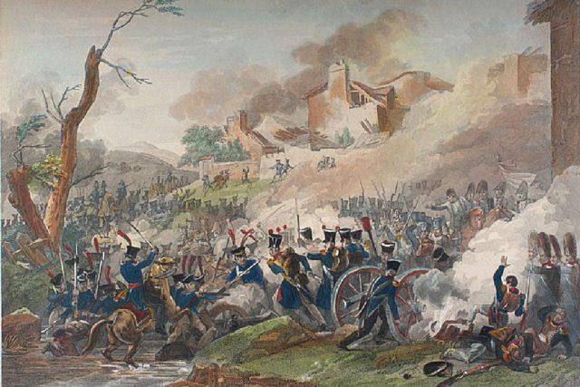 Pierre Adrien: Bitva u Lipska   foto: Wikipedia,  public domain - volné dílo
