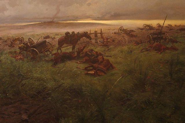 Rudolf Otto Ritter von Ottenfeld: Po bitvě u Hradce Králové   foto: Wikipedia,  public domain - volné dílo