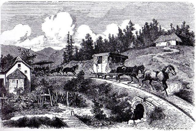 Osobní doprava z Budějovic do Lince | foto: Wikipedia,  public domain - volné dílo