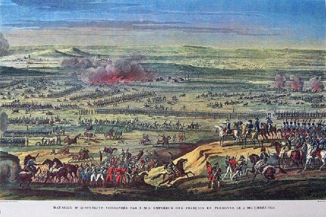 Antoine Vernet: Napoleonova armáda v bitvě u Slavkova | foto: licence Creative Commons Attribution 3.0 Unported