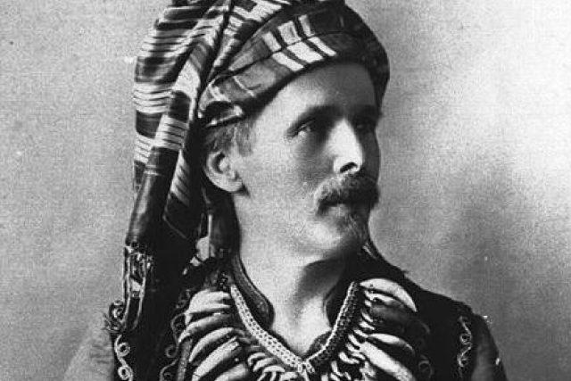 Karel May jako jedna ze svých literárních postav Kara ben Nemsí