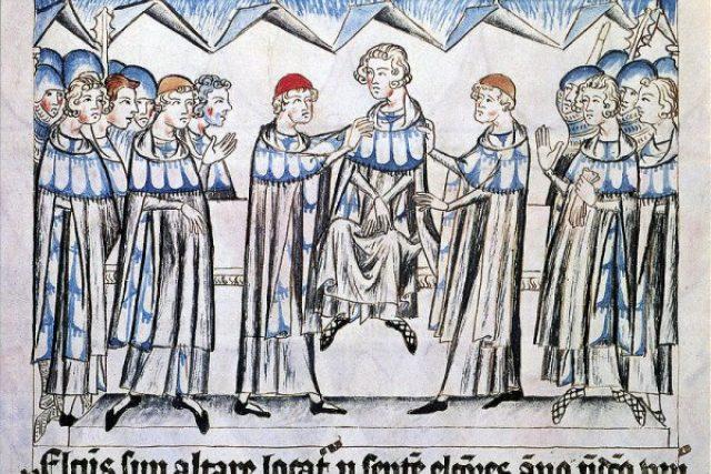 Jindřichovo zvolení římským králem (Codex Balduini Trevirensis)