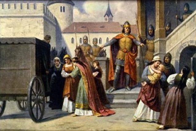 Josef Mathauser: Jan Lucemburský nechává uvěznit syna Václava a odvézt Elišku na Mělník
