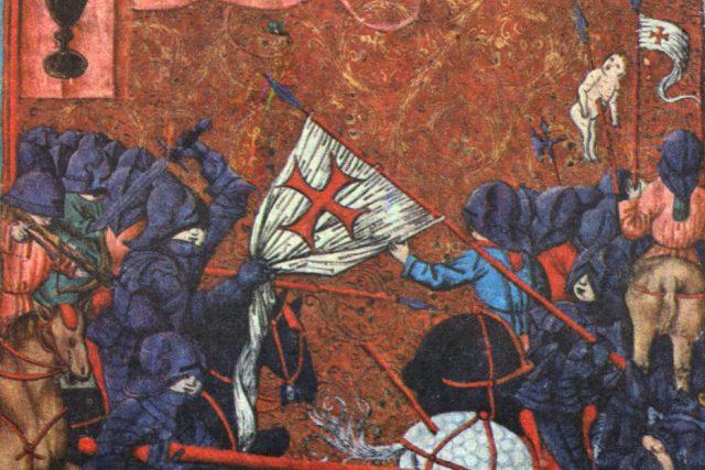 Boj husitů s křižáky,  vyobrazení z Jenského kodexu | foto: Wikipedia,  public domain - volné dílo