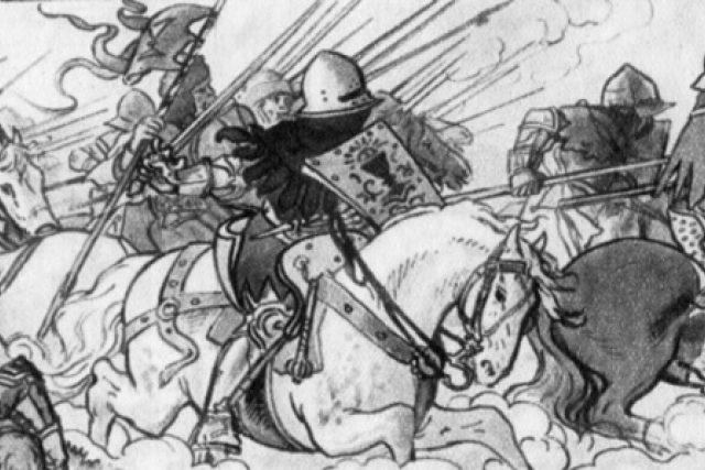 Mikoláš Aleš: Útok husitské jízdy  (1900) | foto: Wikipedia,  public domain - volné dílo