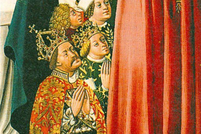 Albrecht II. Habsburský s manželkou Alžbětou Lucemburskou na obraze v Klosterneuburgu | foto: Wikipedia,  public domain - volné dílo