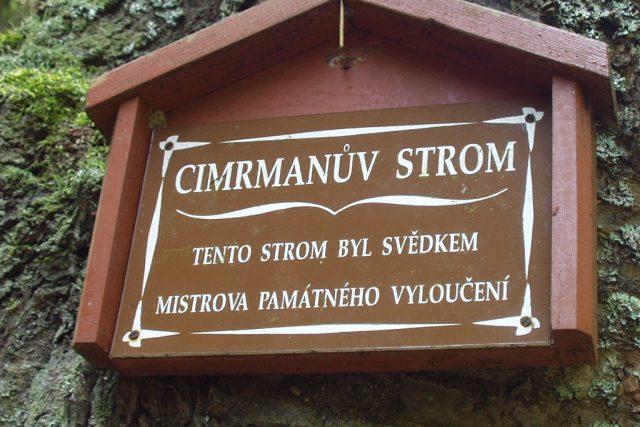 Tabulka Cimrmanův strom