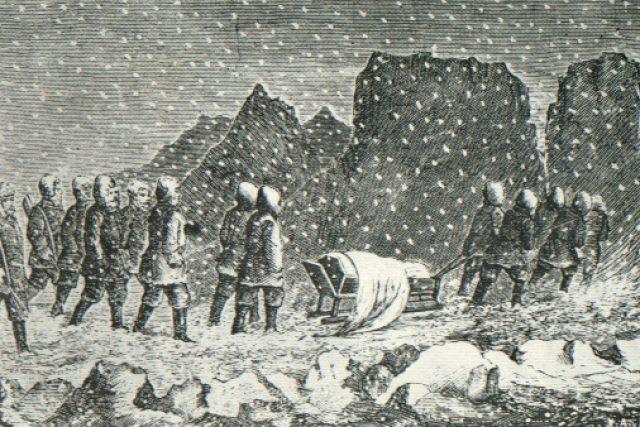 Pohřeb polárního výzkumníka Oty Kříže 19. března 1874