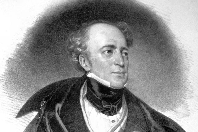 Josef Kriehuber: Portrét Karla hraběte Chotka,  litografie z roku 1834   foto: Wikipedia,  public domain - volné dílo,  Peter Geymayer