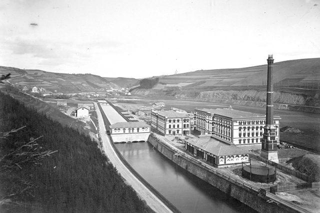 Přádelna v Železném Brodě, fotografie z roku 1867