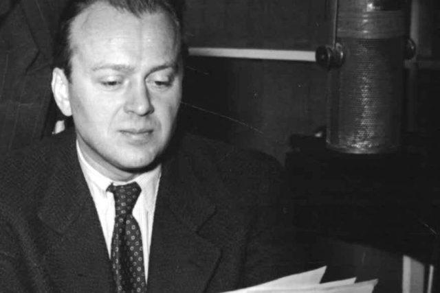 Karel Höger v Československém rozhlasu   foto: Archivní a programové fondy Českého rozhlasu