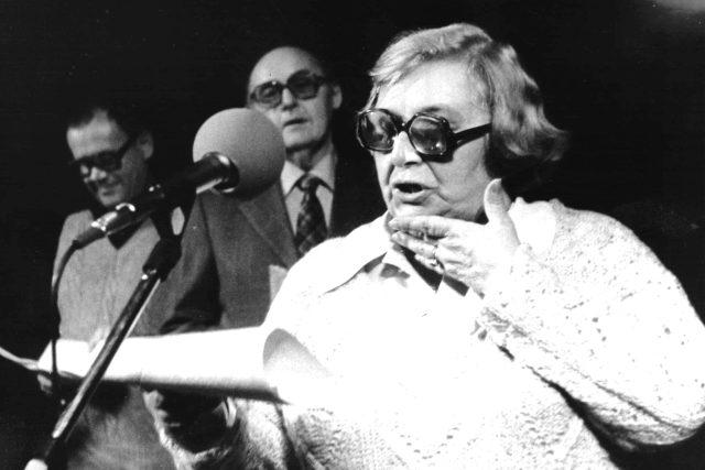 Stella Zázvorková-natáčení Silvestra 1984 | foto: Archivní a programové fondy Českého rozhlasu