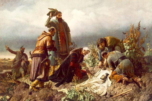 Nalezení těla krále Ludvíka Jagellonského | foto: Wikipedia,  public domain - volné dílo