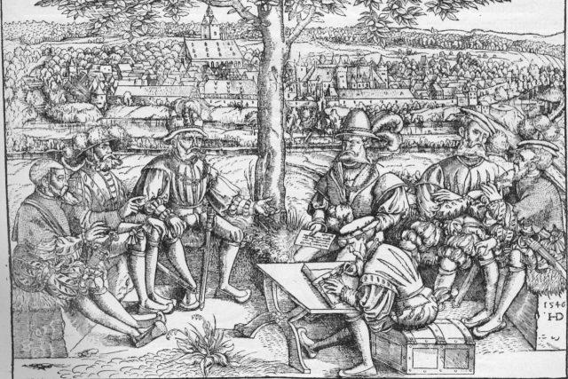 Válečná rada v období šmalkaldské války  (1546) | foto: Wikipedia,  public domain - volné dílo