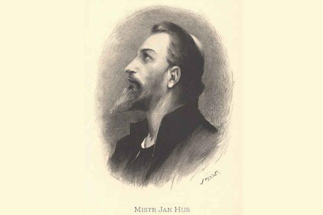 Mistr Jan Hus na hranici v Kostnici 1415   | foto: Kamil Vladislav Muttich