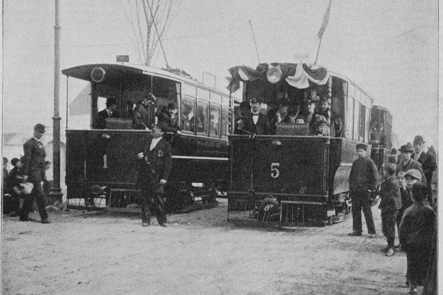 Zahájení provozu elektrické tramvaje | foto: Wikipedia,  public domain - volné dílo