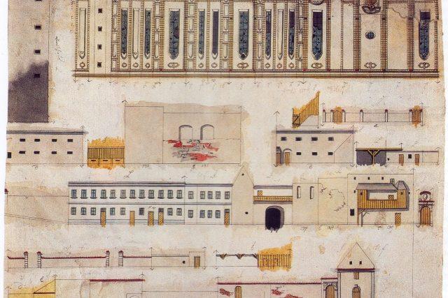 Strahovský klášter v nedokončené části Langweilova modelu | foto: Wikipedia,  public domain - volné dílo