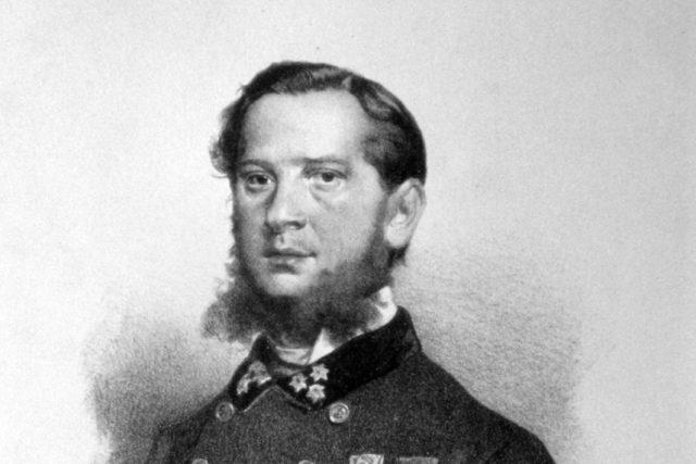 Eduard Kaiser: Jindřich Blažej Vávra. Litografie z roku 1867