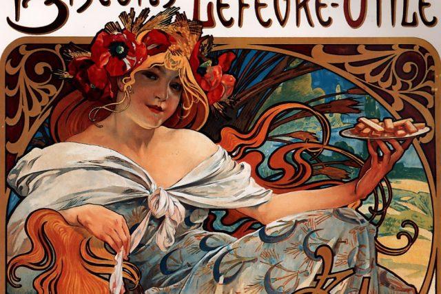 Plakát Alfonse Muchy  (1896) | foto: Wikimedia,  public domain