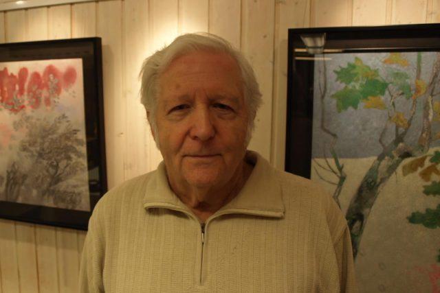 Malíř a restaurátor František Makeš | foto:  Galleri Sollentuna