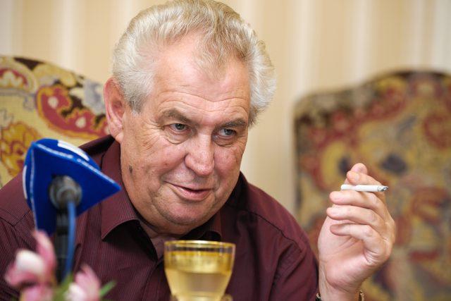Prezident republiky Miloš Zeman v Hovorech z Lán