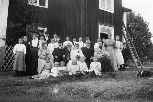 Rodinná fotografie z venkovské svatby  (1911). Ilustrační foto | foto: Wikipedia,  public domain - volné dílo,  Hjalmar Elggren